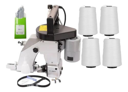 Kit Máquina Costura Saco Sacaria Industrial + Linha + Agulha