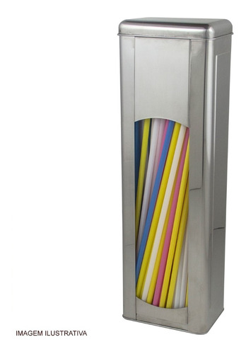 Porta Canudos Em Aço Inox Allissan Inox