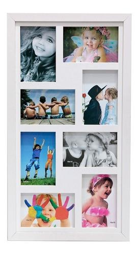 Quadro Painel Multifotos 8 Fotos 10x15 Paspatur Cartão Vidro