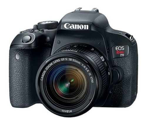 Câmera Canon T7i E Lente Ef s 18 55mm F/3.5 5.6 Is