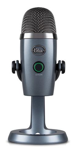 Micrófono Blue Yeti Series Yeti Nano Condensador  Omnidireccional Y Cardioide Shadow Grey