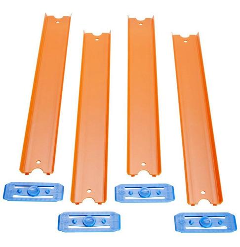 Pista Hot Wheels - 4 Seções Retas - 90cm - Track & Builder -