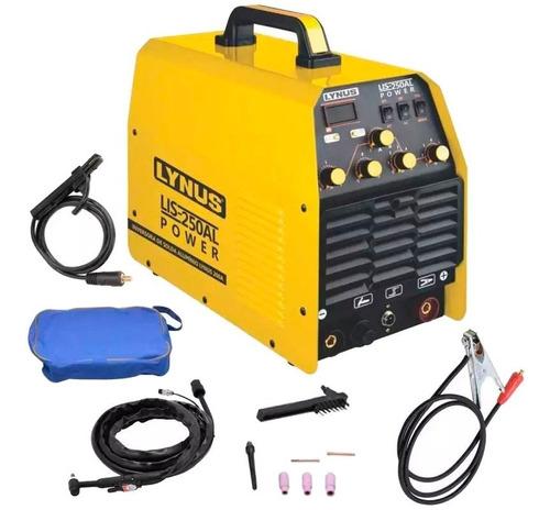 Máquina De Solda Tig Inversora Alumínio 200a Lis250al Lynus