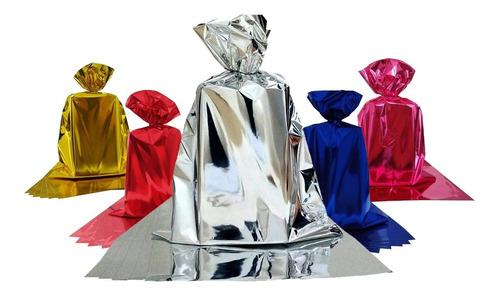 Embalagem Saco Para Presente Metalizado 25x37 C/ 100 Unid