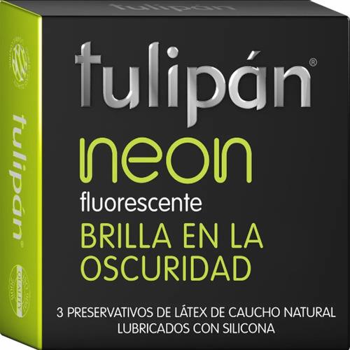 Preservativo Neon Condon Tulipan Brilla En La Oscuridad