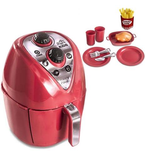 Air Fryer Brinquedo Cozinha Infantil Comidinhas + Acessórios