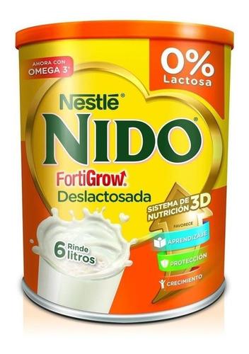 Leche De Fórmula En Polvo Nestlé Nido Fortigrow Deslactosada En Lata De 800g