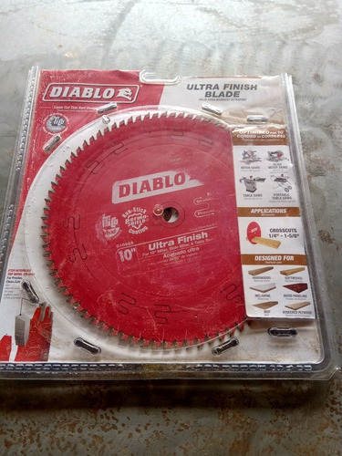 Disco Freud Diablo Melamina Ultra Finish 10  ( 255 Mm) Nueva
