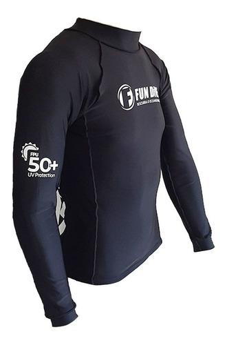 Camiseta Manga Longa Proteção Uv Fun Dive Mergulho Pesca Sub