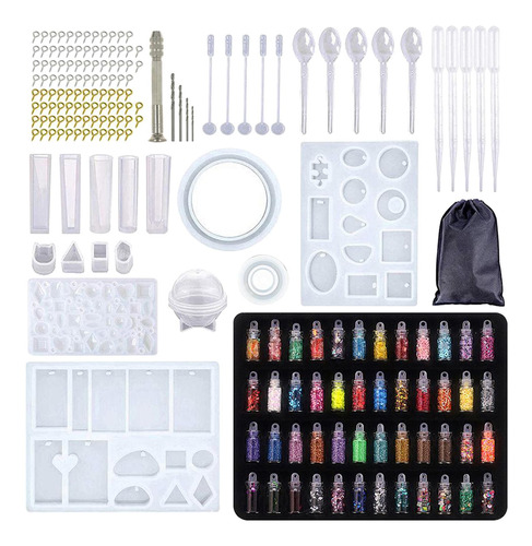 Kit Moldes Para Resina 184 Peças Glitter