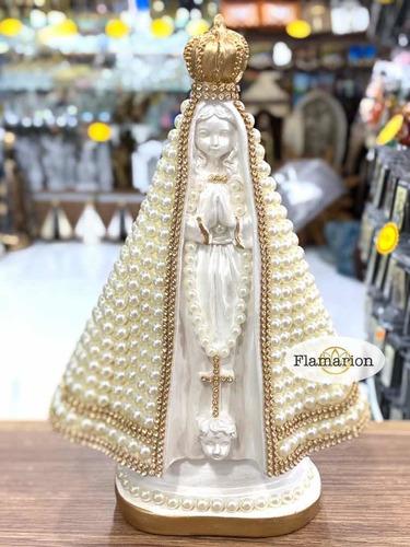Imagem Nossa Senhora Aparecida Com Pérola 27cm. Linda!