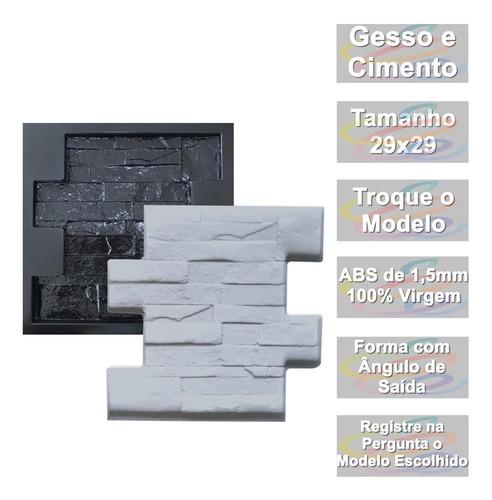 Forma De Gesso 3d Cimentício Abs Pedra São Tomé Canjiquinha