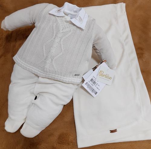 Saida Maternidade Plush Bebê Menino Paraiso Inverno Rf 10208
