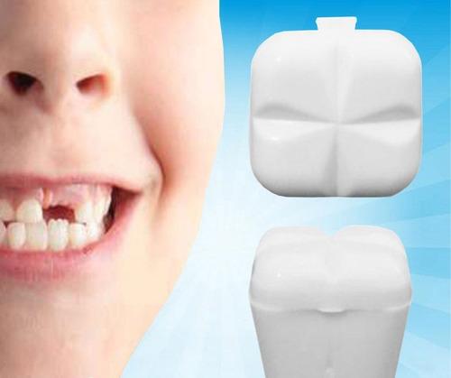 Baú Porta Dente De Leite Branco Com 16 Unidades