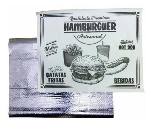 Papel Acoplado Térmico C/ 1000 Un Hamburguer Lanche