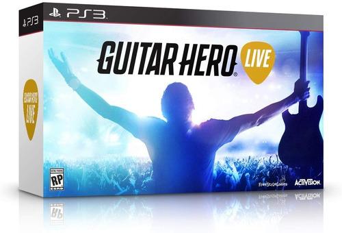 Guitar Hero Live Ps3 Con Juego Incluido