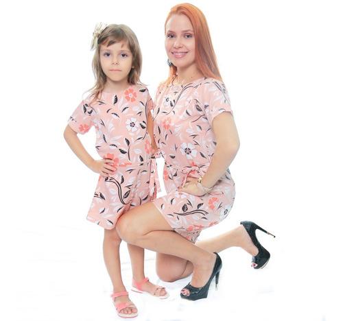 Vestido Tie Dye Mãe E Filha Camisetão  Moda Tendencia