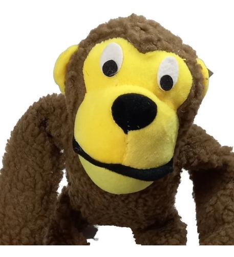 Brinquedo Pelúcia Macaco C/apito Para Cachorro Cães Pet