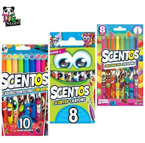 Lote Scentos Fibrones Crayones Lapiceras Originales Youtube!