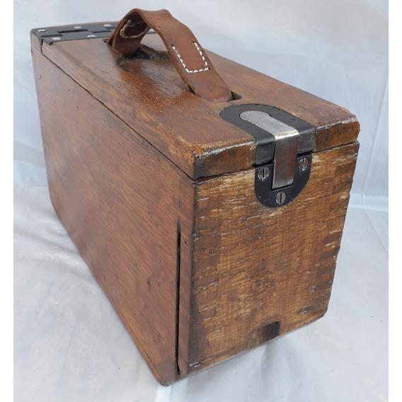 Caja Militar De Municiones De Madera Ametralladora Colt