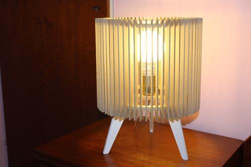 Lampara De Mesa Velador Diseño Moderno Mod Round Luminica