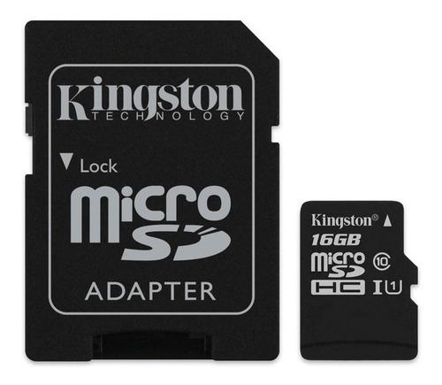 Tarjeta De Memoria Kingston Sdcs Canvas Select Con Adaptador Sd 16gb