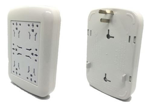 Zapatilla Electrica Ampliador Enchufe  Multinorma 6 Tomas