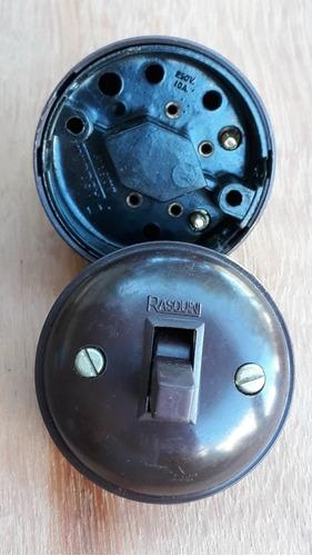 Interruptor Baquelite Vintage 250v 10a Raridade