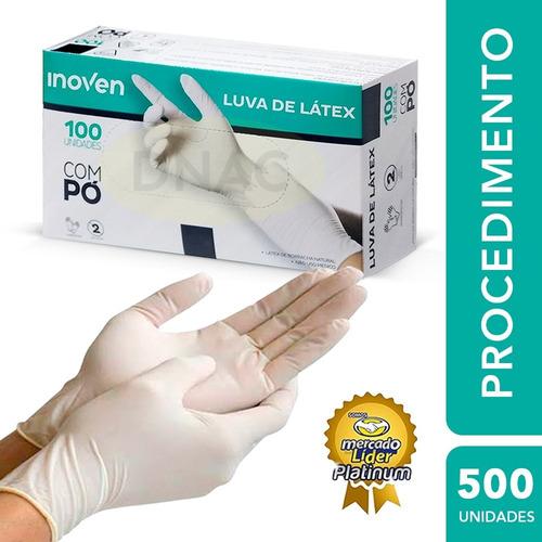 Luva Látex Procedimento Descartável Pp P M G - Caixa C/ 500