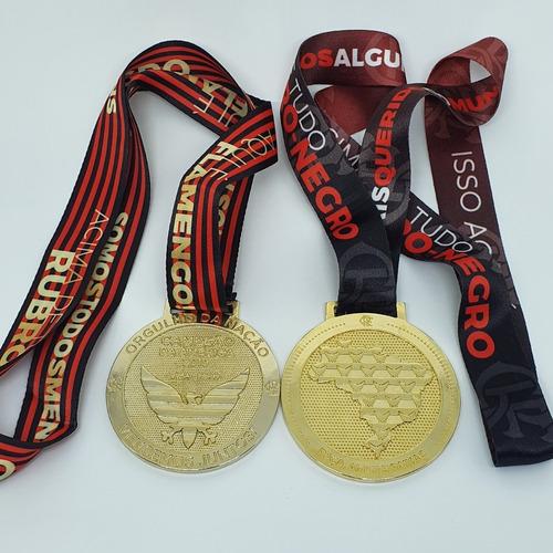 2 Medalha Flamengo Campeão Brasileiro E Libertadores 2019