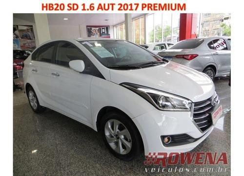 Hb20 Sedan Premium 1.6 Aut 2017/17 U. Dono Garantia Fabrica