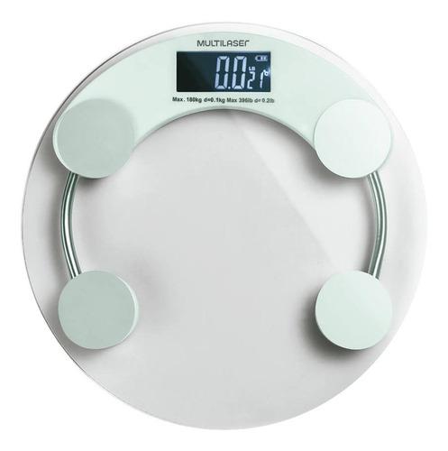 Balança Corporal Digital Multilaser Eatsmart Branca, Hasta 180 Kg