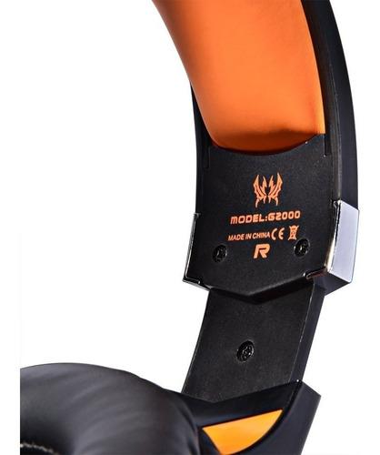 Headphones Gamer Kotion G2000 Orange - Ecart