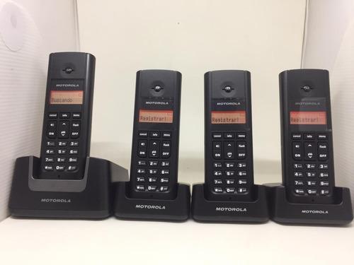 Telefone Sem Fio Motorola + 3 Ramais Visor Iluminado Vitrine