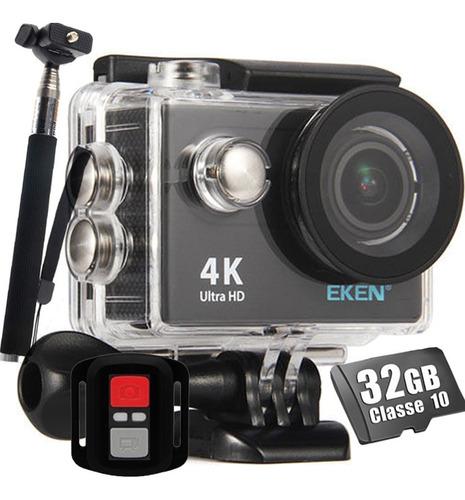 Câmera Esportiva Eken H9r Original 4k Wi fi 32gb Bastão