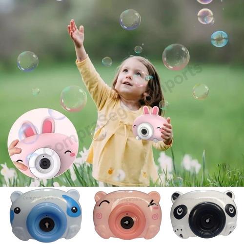 Brinquedo Lança Bolhas De Sabão Câmera Fotográfica Água Alça