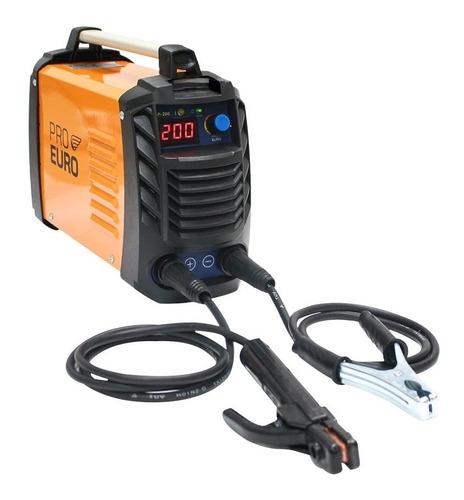 Solda Inversora 200a Bivolt 110v/220v Pró Euro Eletrodo Tig