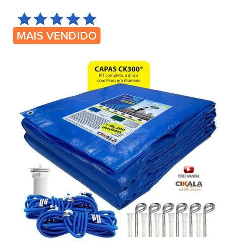 Capa De Piscina 5 Em 1 Proteção + Termica Completa 6,5x3,5 M