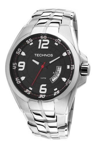 Relógio Masculino Prateado Technos Performance 2115ksw/1r.