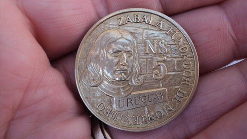 Uruguay. N$ 5. 250º De La Fundación De Montevideo. 1976