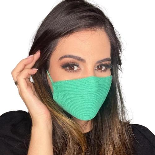 Mascara Knit Canelado Antiviral- Envio Hoje