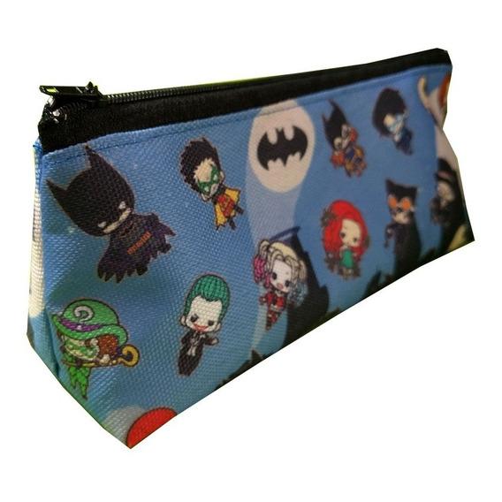 Cartuchera Triangular De Batman Harley Quinn Joker Dc