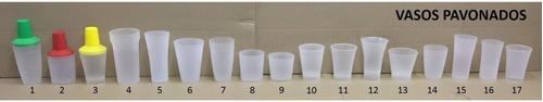 Vasos Y Hieleras De  Plástico Pavonados Diferente Colores