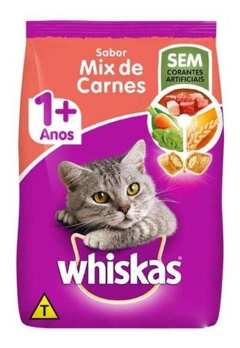 Alimento Whiskas 1 + Para Gato Adulto Sabor Mix De Carnes Em Saco De 10.1kg