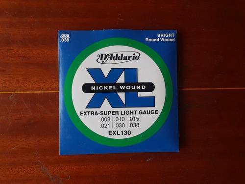 Cuerdas D Addario 008 Para Guitarra Electrica Exl130