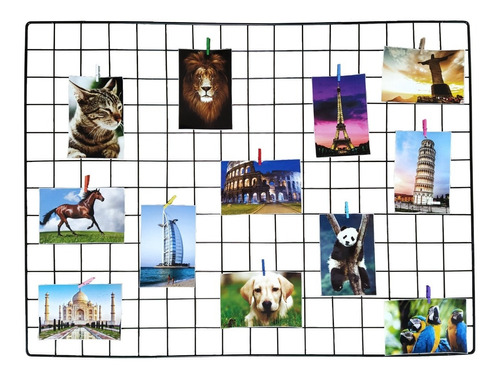 Memory Board Painel Fotos Preto 60x80+ Brinde 20 Prendedores
