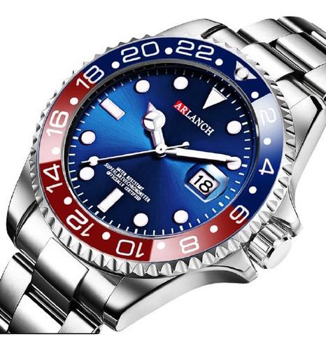 Relógio Masculino Aço Inoxidável Estilo Rolex Lançamento