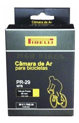 Camara De Ar 29er Pirelli Valvula Presta 48mm Bike Mtb