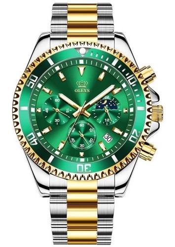 Relógio Masculino Luxuoso Inovador Olevs 2870