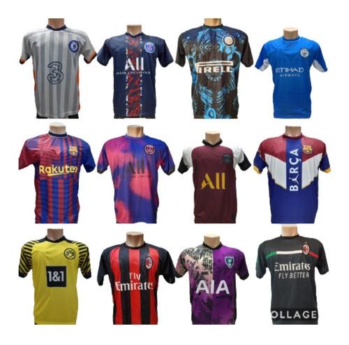 Camisas De Times Europeus Kit Com 5 Unidades